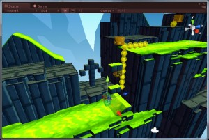 A shot of level 3 inside the Unity editor